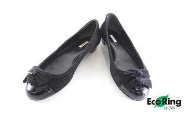[Eco Ring HK]*Miu Miu Pumps/Size 37.5/Black/Suede*Rank B-197023480-