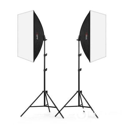 單燈柔光箱套裝攝影燈棚服裝常亮燈拍攝主播補光拍照燈具