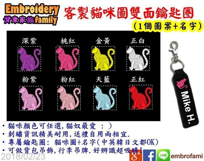 ※客製鑰匙圈※4PCS專屬雙面鑰匙圈吊牌貓咪貓星人貓奴愛用行李吊牌背包吊飾(貓咪+名字,4個/組)