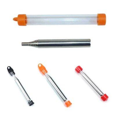 喵~新款不銹鋼吹火管吹火筒Pocket Bellow 野營生火工具可伸縮吹火棒