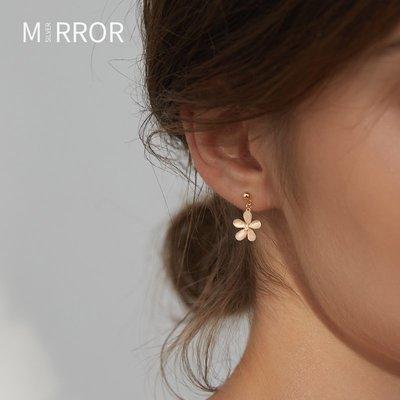 SWEET COVE~小麋人925耳釘耳環2021年新款潮純銀耳飾女花朵雛菊ins小眾冷淡風