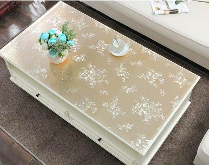 小妮子的家@PVC水晶茶几.防水.防油.耐高溫軟玻璃桌墊/香檳金玫瑰花/~沐