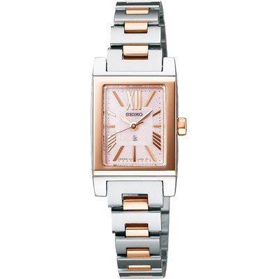 可議價.「1958 鐘錶城」SEIKO精工錶 LUKIA 時尚限定腕錶(SSVR911J)-玫塊金+銀色