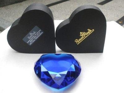 德國【ROSENTHAL】羅森泰 深藍色+愛心造型 CRYSTAL 水晶紙鎮 擺飾 保證全新正品/真品 現貨在台