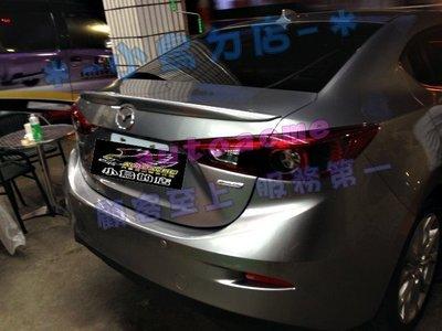 (小鳥的店)馬自達 魂動 2015 NEW 馬3 M3  4D 四門 原廠型 尾翼 擾流板 材質 ABS mazda 新北市