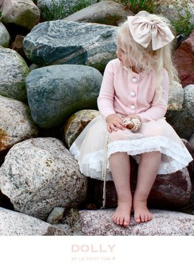 【Nichole's歐美進口優質童裝】荷蘭DOLLY米色蕾絲雪紡紗細肩帶洋裝/禮服/派對/生日/發表會/花童 現貨