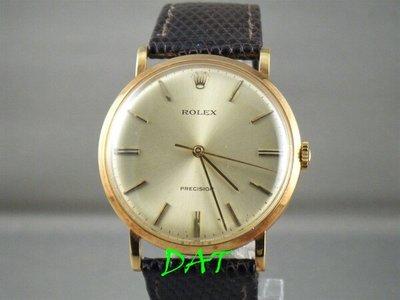 ROLEX 勞力士 3410 18K古董金錶.1225手動機芯.34mm錶徑.原廠包金錶扣.原廠皮帶