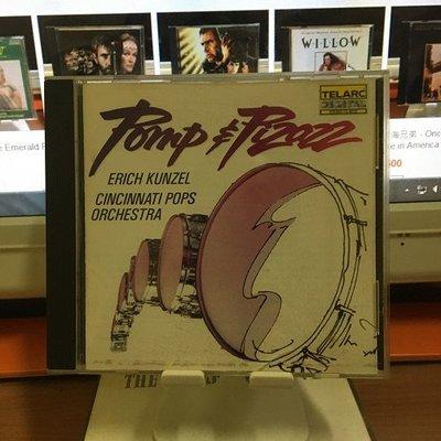 TELARC - POMP PIZAZZ - 華麗威猛的進行曲 - 1987年美版(非再版),片況如照片示,無氧化無脫銀