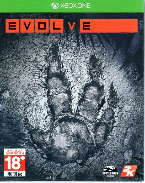 現貨中 XBOXONE遊戲 惡靈進化 Evolve 中文亞版 【板橋魔力】