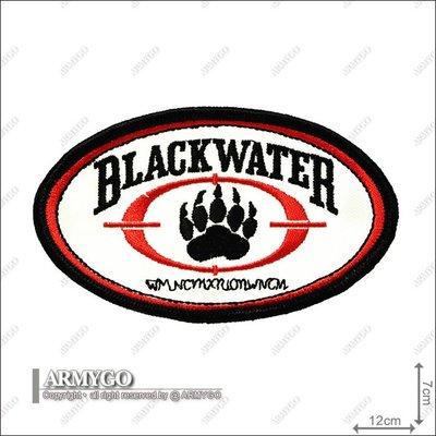 【ARMYGO】美國黑水部隊白色橢圓章