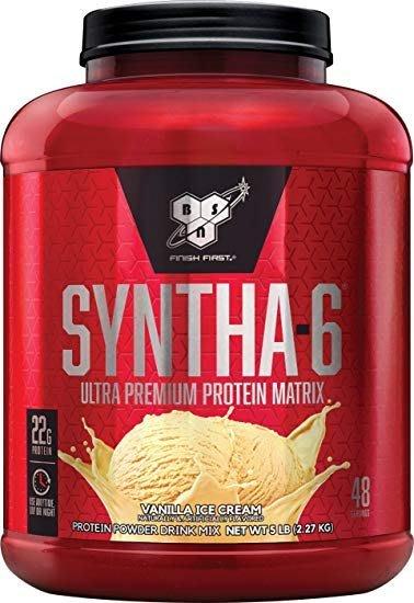 宙斯健身網-BSN Syntha-6 勁量低脂複合乳清蛋白5磅(香草) (健身 高蛋白) 公司貨 + 塑膠杯