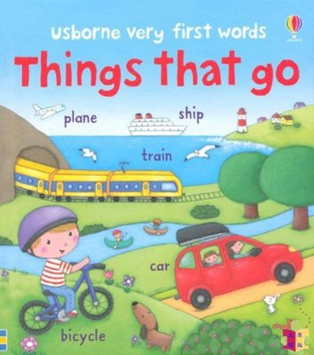 [文閲原版]第yi本單詞繪本 交通工具 英文原版Very First Words Things That Go 兒童認知識物繪本 紙板書