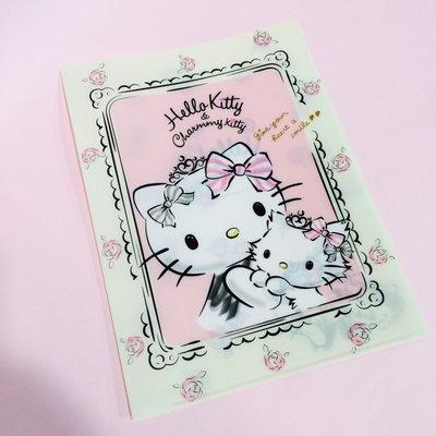 [Kitty 旅遊趣] A4資料夾 Hello Kitty文件夾 L形夾 可展開 辦公室用品 文具用品 收納整齊方便漂亮