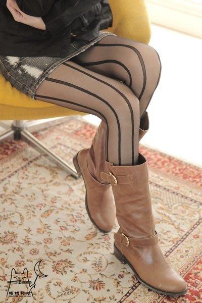 【拓拔月坊】日本知名品牌 M&M Frifla 直紋 褲襪 日本製~現貨!