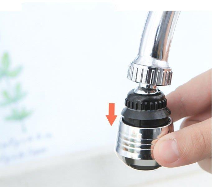 360度2段式省水增壓轉接器 水龍頭起泡器 兩段式節水器 多功能轉接頭 螺紋介面  萬用轉接頭