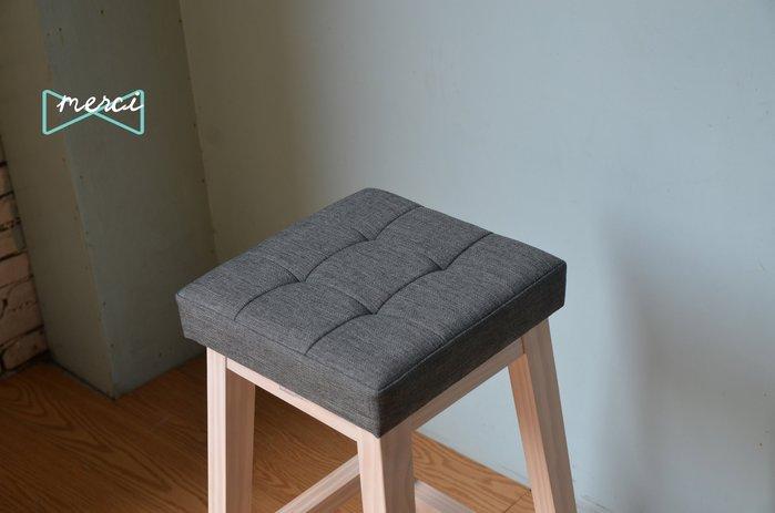 美希工坊JAN-PON吐司吧台椅/中島椅/吧台椅/ 亞麻灰/沙發坐感/洗白腳