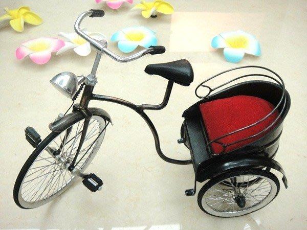 Y【永晴峇里島】巴里島風懷舊金屬三輪車模型擺飾,居家,民宿,飯店都好用-擺飾12