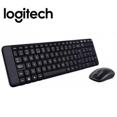 【傳說企業社】Logitech 羅技無線鍵盤滑鼠組-MK220
