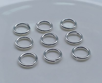 嗨,寶貝手創飾品工作室* 925純銀 DIY串珠配件☆5mm C圈 圓形扣環(開口)(較粗款)☆10個一起售