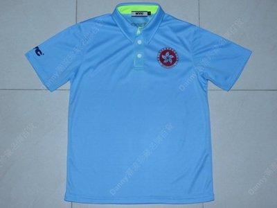 正版 NYC Hong Kong China 港隊 中國香港代表隊 淺藍色 運動員 短袖運動 Polo (M)