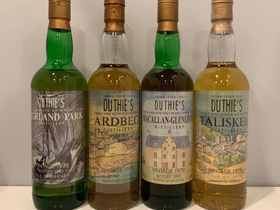 Macallan. Ardbeg. Talisker. Highland Park Scotch Whisky 700ml x 4 Duthie's