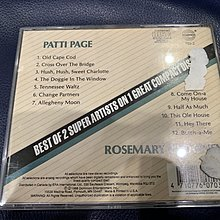 *還有唱片行*PATTI PAGE / ROSEMARY CLOONEY 二手 Y11152