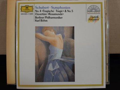 """Bohm,Berliner Phi,Schubert-Sym No.4""""Tragic""""&No.5,z貝姆指揮柏林愛樂,演繹舒伯特第四號""""悲傷""""&第五號交響曲"""