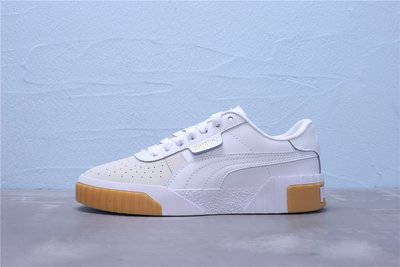 Puma Call Emboss Wn's 厚底 灰白棕 皮革 休閒運動鞋 女鞋 369653-01