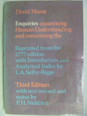 【月界】Hume's Enquiries-Human Understanding_David Hume〖大學社科〗ACR