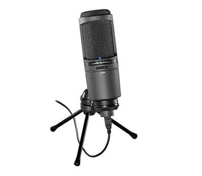 全新 鐵三角 audio-technica AT2020USB+ plus 靜電型電容式麥克風 公司貨