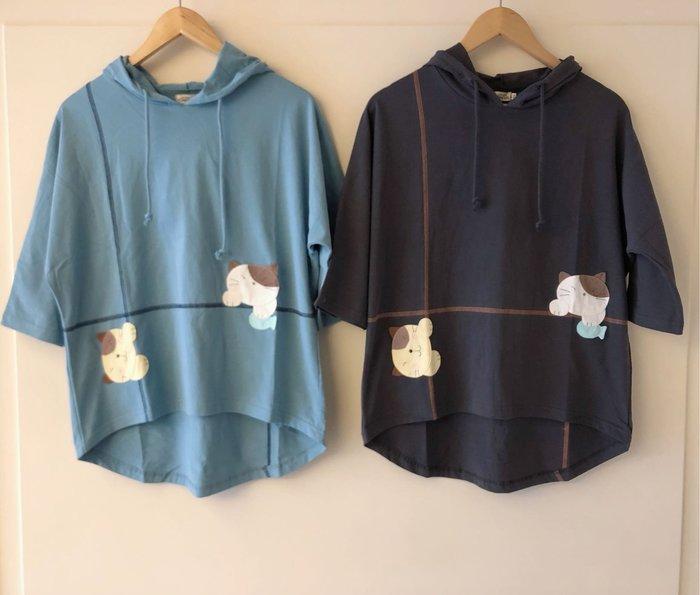 日本卡拉貓~Gonpon醬連帽七分袖上衣L