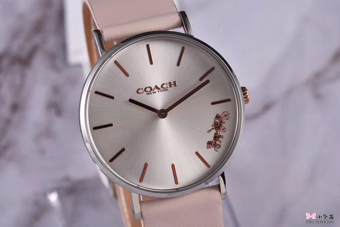 小黛西歐美代購 COACH 2019新款 經典馬車logo 牛皮錶帶 時尚精品2 美國連線代購