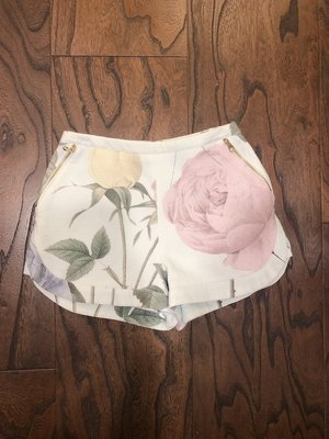 [二手|免運]專櫃正品 TED BAKER 薄荷綠花朵短褲