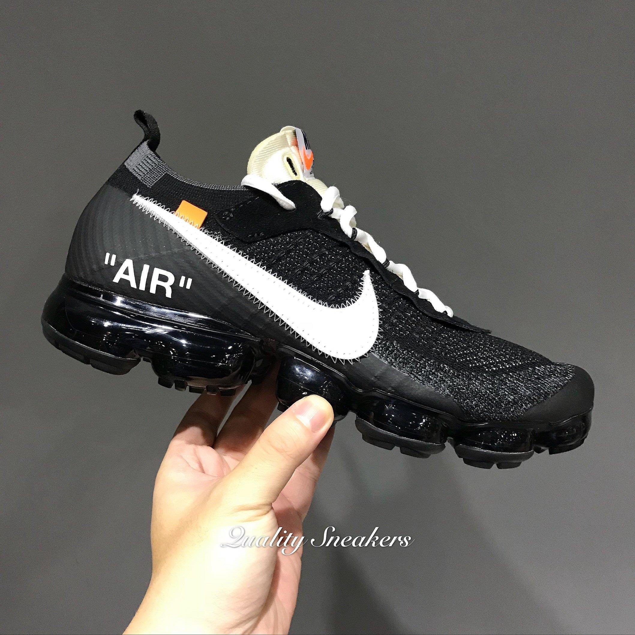 d15c7c7c7476 現貨- Off-White x Nike Air VaporMax Flyknit 黑色全氣墊AA3831 001 ...