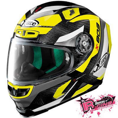 ♚賽車手的試衣間♚ X-Lite® X-803 Ultra Carbon Mastery Yellow 碳纖維 安全帽