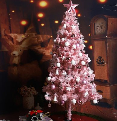 粉色聖誕樹 聖誕樹90cm餐迷你小雪松聖誕樹聖誕節裝飾品擺件 聖誕節裝飾品—莎芭