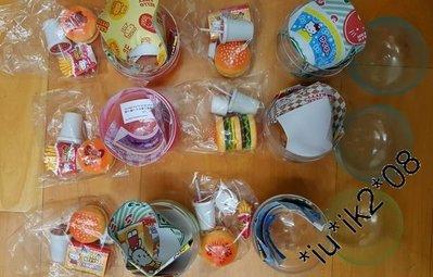 TAKARA TOMY Hello Kitty漢堡包快餐店扭蛋, 全套6款 全新未拆未玩過