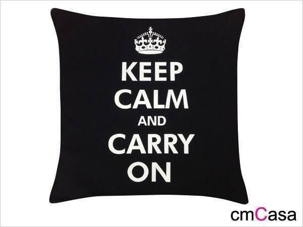 = cmCasa = [2403]英式個性時尚設計 冷靜向前抱枕套 黑白雙色新發行