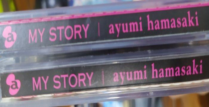二手專輯[Ayumi Hamasaki濱崎步MY STORY]雙層膠盒+寫真歌詞本+中文歌詞摺頁+CD+DVD,2004