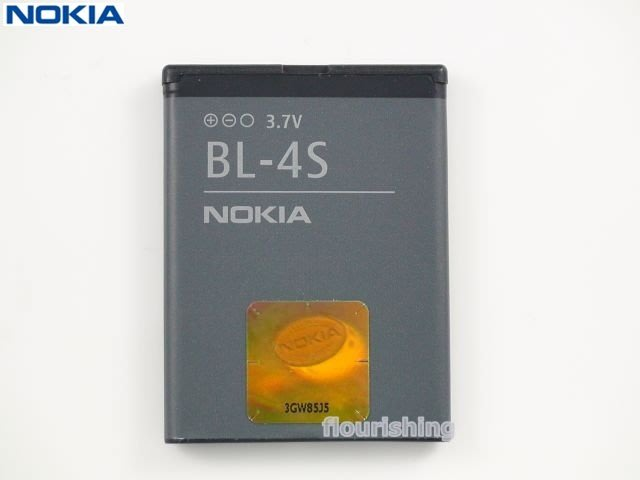 NOKIA 原廠電池BL-4S/BL4S/2680s/3600s/3710/3710f/6208c/6208/7020
