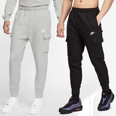 【Dr.Shoes】Nike NSW 男裝 刷毛 刺繡 工裝褲 縮口褲 棉質 運動長褲 黑CD3130-010 063