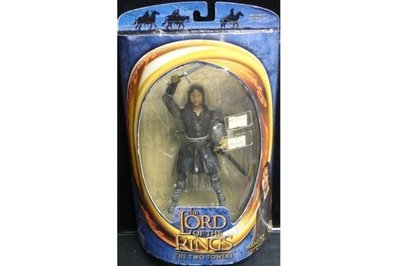 TOY BIZ 魔戒三部曲 亞拉岡 LORD OF THE RINGS ARAGORN WITH SWORD-SLASHING (LOTR-81307)