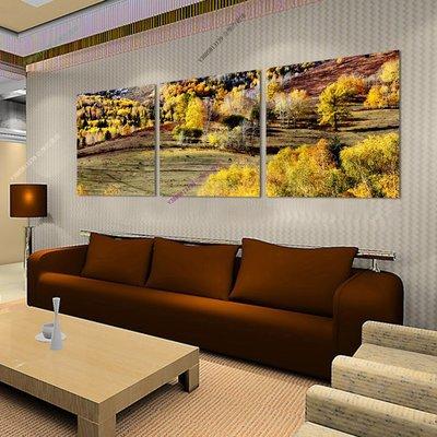 【70*70cm】【厚1.2cm】風景櫻花穀-無框畫裝飾畫版畫客廳簡約家居餐廳臥室【280101_429】(1套價格)