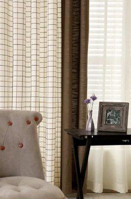 日式格仔訂造窗簾 141A