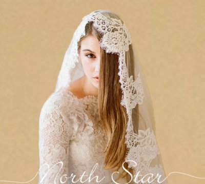 【❤妍麻LOVE嚴選❤ 】奢華新娘結婚婚紗頭紗法國復古睫毛車骨花朵蕾絲韓式軟頭紗 《預購》