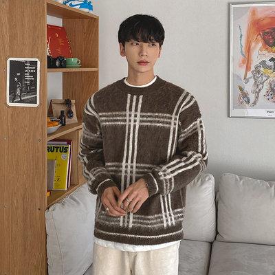 正韓男裝 格紋針織毛衣 / 3色 / FD1120616 KOREALINE 搖滾星球
