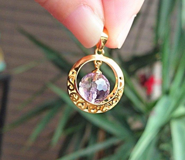 ~水晶花園~ 天然能量水晶 紫黃晶墜子