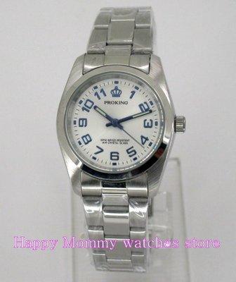 【 幸福媽咪 】網路購物、門市服務 PROKING 皇冠 男錶/女錶 石英錶-白面 30mm