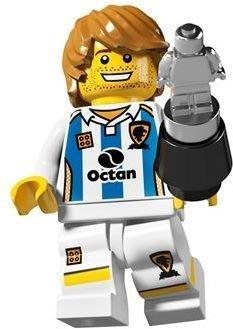 絕版品【LEGO 樂高】玩具 積木/ Minifigures人偶包系列: 4代 8804 單一人偶: 足球員+小銀人