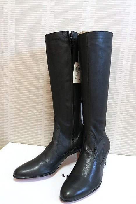 *Beauty*agnis b黑色中跟長靴 原價18980元36號   大特價 僅此一雙 LINSON18